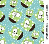 vector seamless pattern with... | Shutterstock .eps vector #283956386