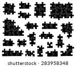 set of different puzzle pieces... | Shutterstock .eps vector #283958348