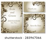 wedding flower invitation ... | Shutterstock .eps vector #283967066