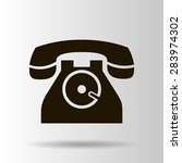 phone icon  vector illustration | Shutterstock .eps vector #283974302