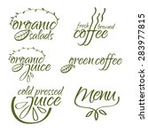 vector collection of organic... | Shutterstock .eps vector #283977815