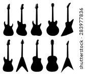 Big Set Of Acoustic Guitars An...