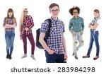 school concept   handsome... | Shutterstock . vector #283984298