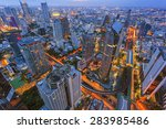 beautiful cityscape  center of... | Shutterstock . vector #283985486