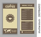 design a menu for coffee  cafe  ... | Shutterstock .eps vector #283986002