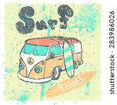 van surf illustration  t shirt... | Shutterstock .eps vector #283986026