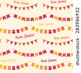 festa junina illustration  ... | Shutterstock .eps vector #283986932