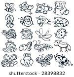 Stock vector big set of cute animals 28398832