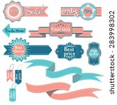 vector set of labels and... | Shutterstock .eps vector #283998302