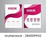 flyer design template with... | Shutterstock . vector #284009942