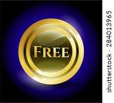 free shiny emblem   Shutterstock .eps vector #284013965