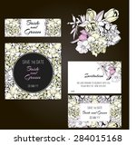 invitation  save the date cards.... | Shutterstock .eps vector #284015168