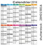 French Calendar For Year 2016 ...