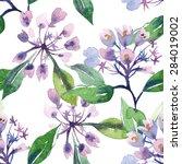 weigelas seamless pattern  eps 8 | Shutterstock .eps vector #284019002