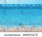 abstract dot beach background | Shutterstock .eps vector #284021672