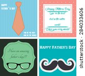 set of backgrounds with text... | Shutterstock .eps vector #284033606