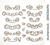 set calligraphic elements for... | Shutterstock .eps vector #284036696