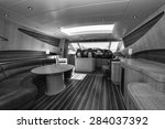 italy  luxury yacht  dinette | Shutterstock . vector #284037392