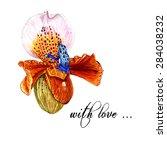 Watercolor Slipper Orchid  ...