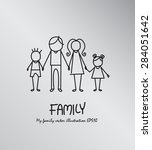 family hand drawn concept.... | Shutterstock .eps vector #284051642