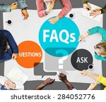 faqs frequently asked questions ... | Shutterstock . vector #284052776