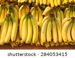 bunch of ripened bananas at... | Shutterstock . vector #284053415
