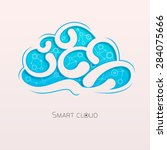 creative cloud carved on paper.   Shutterstock .eps vector #284075666