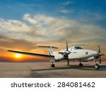 Propeller Plane Parking At The...