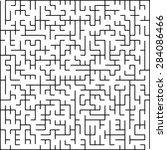 vector maze of low complexity   Shutterstock .eps vector #284086466