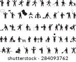 common pictogram people... | Shutterstock .eps vector #284093762
