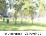 blur garden background. | Shutterstock . vector #284095472