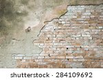 brick wall for background or... | Shutterstock . vector #284109692