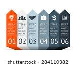 vector arrows infographic.... | Shutterstock .eps vector #284110382