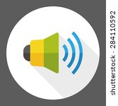 speaker flat icon with long...