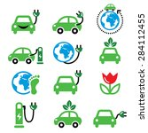 electric car  green or eco... | Shutterstock .eps vector #284112455