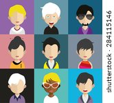 set of people icons in flat... | Shutterstock .eps vector #284115146
