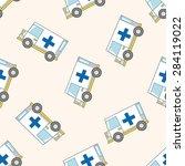 transportation ambulance  ... | Shutterstock . vector #284119022