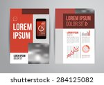 design brochure template with... | Shutterstock . vector #284125082