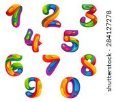 numbers set in volume splash... | Shutterstock .eps vector #284127278