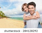 couple  happiness  cheerful. | Shutterstock . vector #284128292