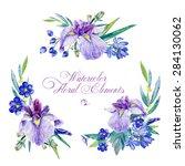 set of floral elements for... | Shutterstock . vector #284130062