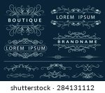 monogram design elements ... | Shutterstock .eps vector #284131112