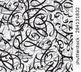 seamless pattern ornament... | Shutterstock .eps vector #284131832