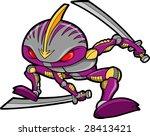 ninja robot vector illustration