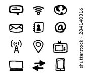 media and communication icons... | Shutterstock .eps vector #284140316