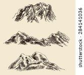 precipitous mountain landscape... | Shutterstock .eps vector #284141036