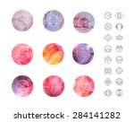 abstract circle watercolor...   Shutterstock .eps vector #284141282