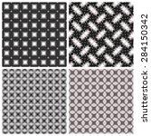 stylized set of vector textures.... | Shutterstock .eps vector #284150342