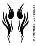 tribal tattoo vector design... | Shutterstock .eps vector #284150366