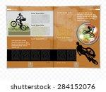 layout magazine. vector  | Shutterstock .eps vector #284152076